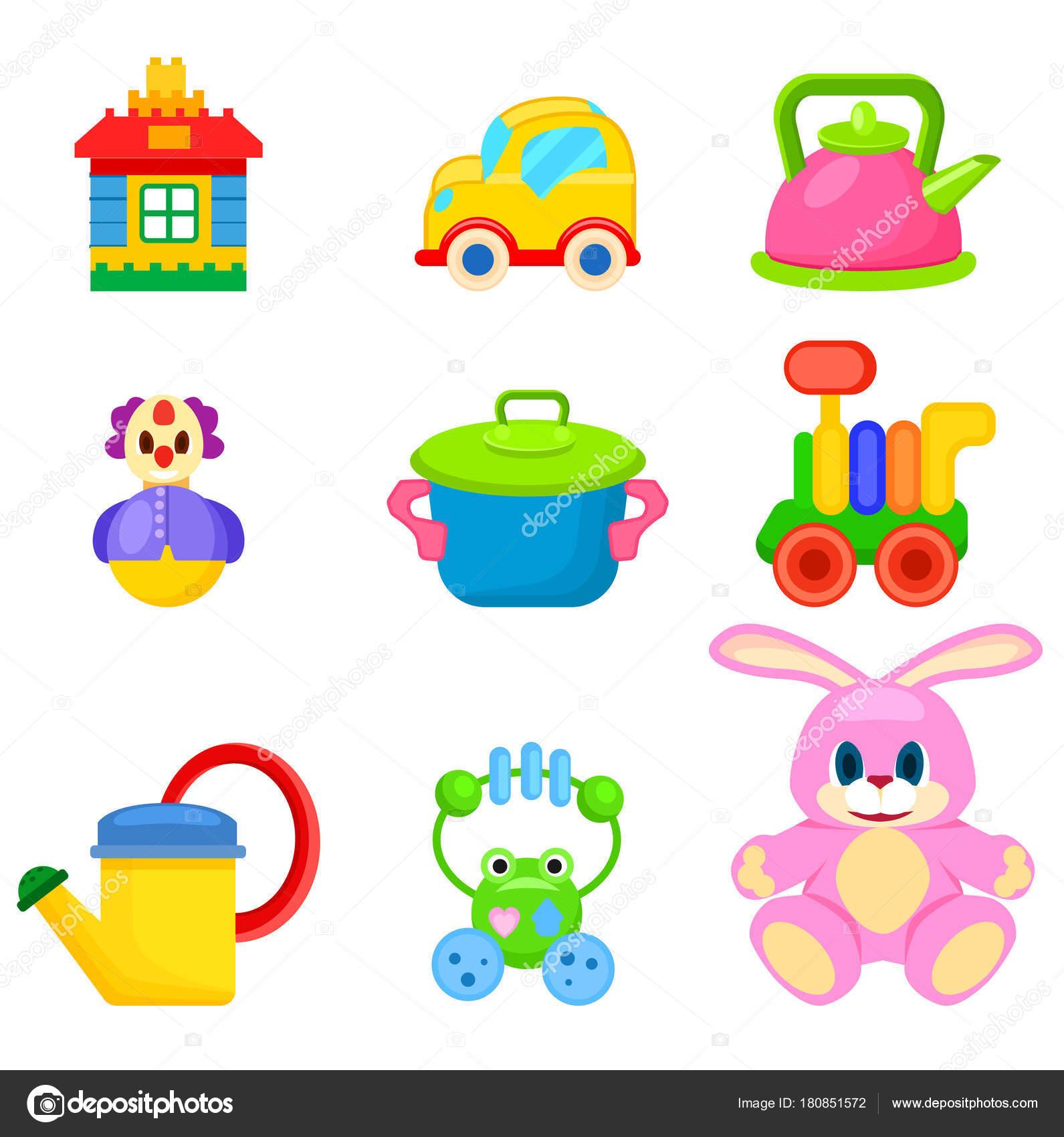 ソフトと子供のイラスト セットのプラスチック製のおもちゃ ストック