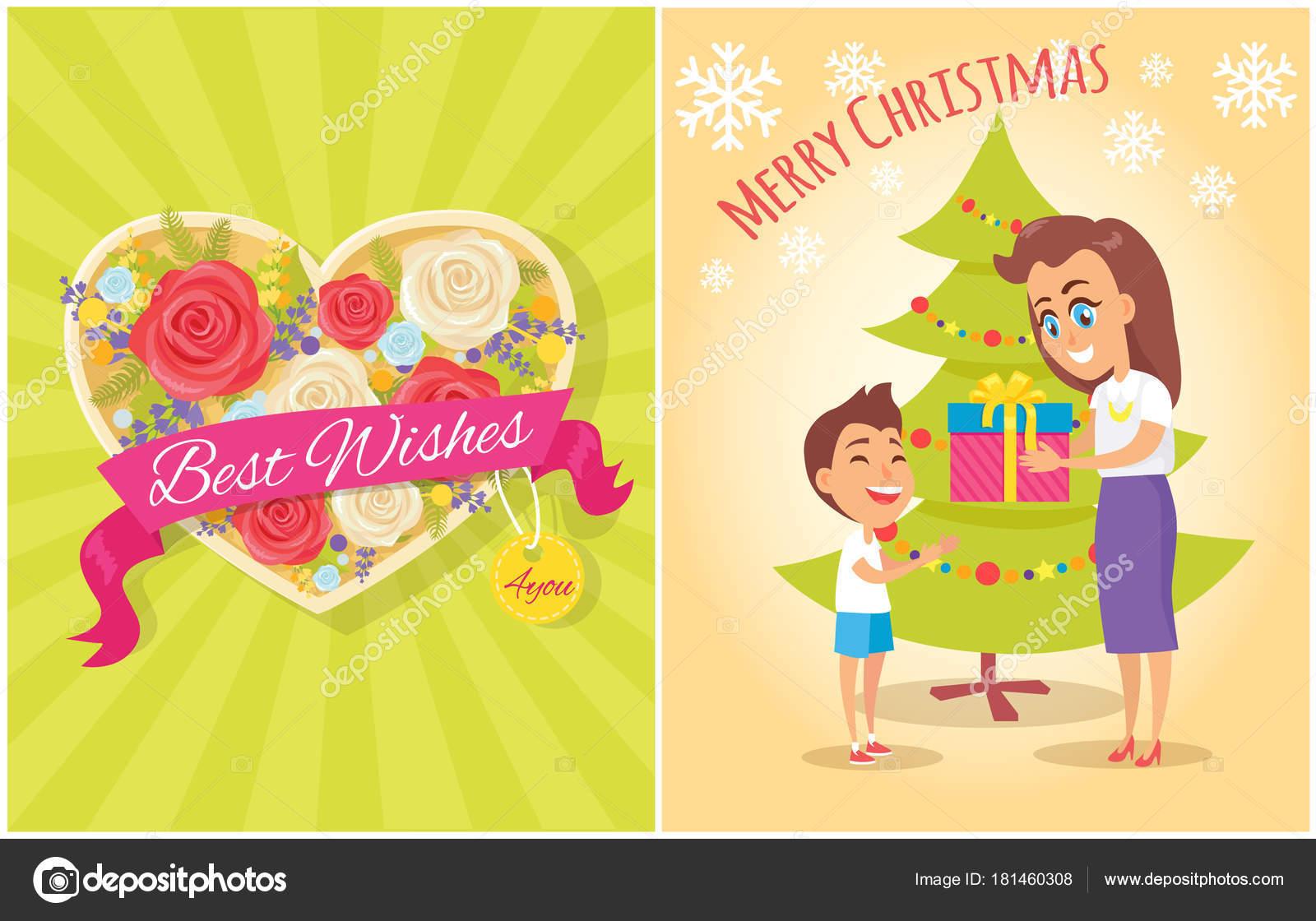 Die besten Wünsche für Sie Frohe Weihnachten Postkarte Herz ...