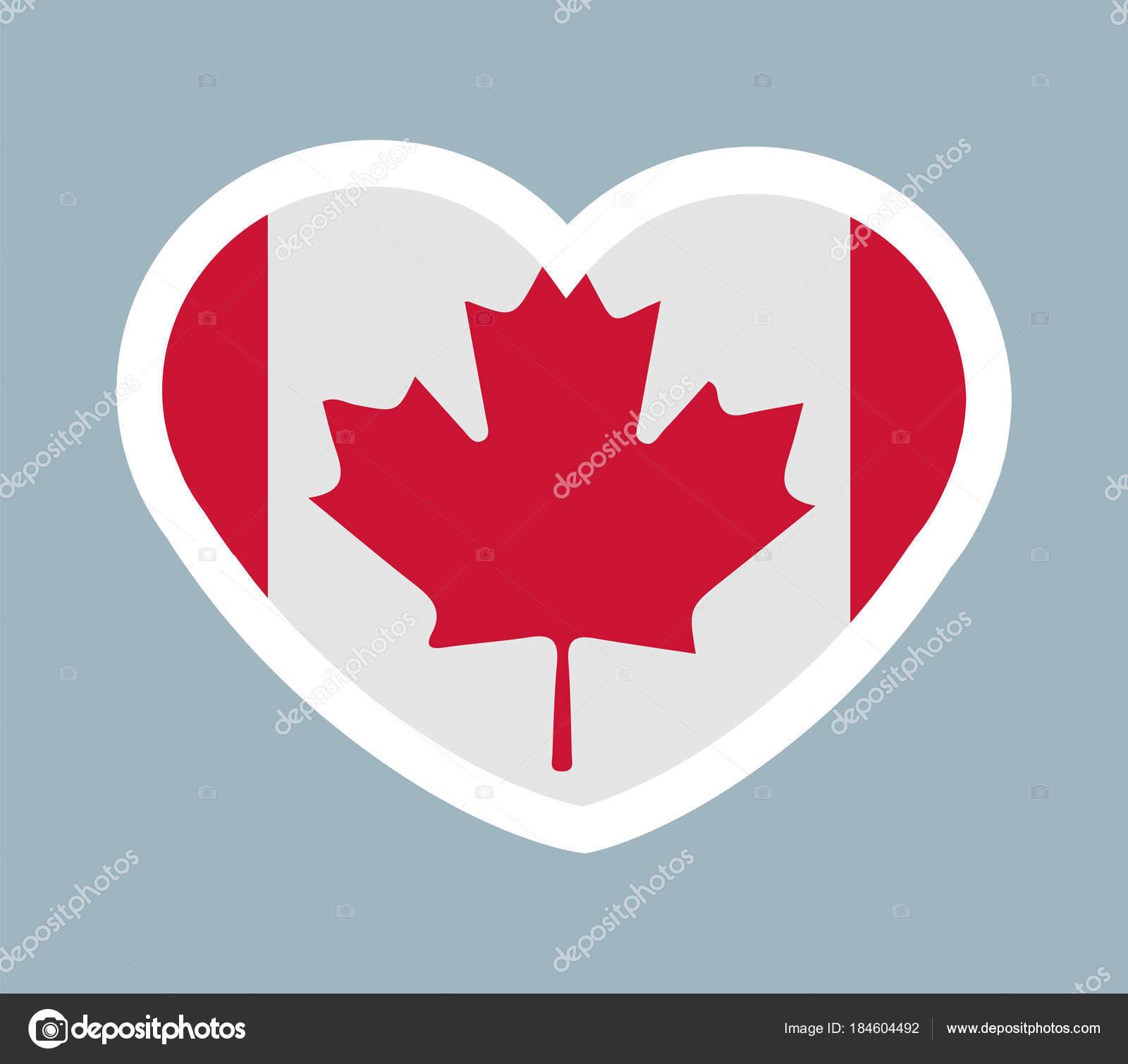Etiqueta engomada linda bandera canadiense Vector ilustración ...