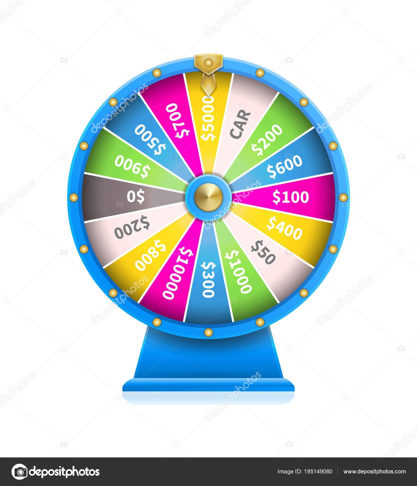 Rueda de la fortuna de máquina automática de juego de suerte ...