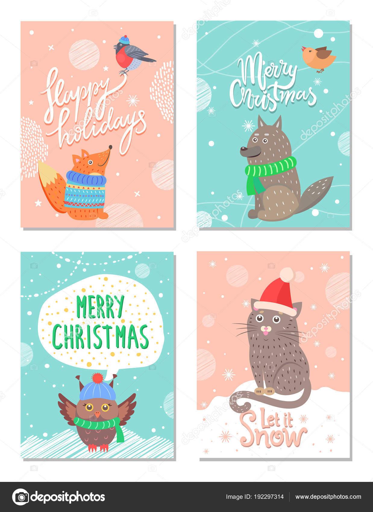 Buon Natale Anni 60.Buon Natale E Buone Feste Anni 60 Cartoline Vettoriali