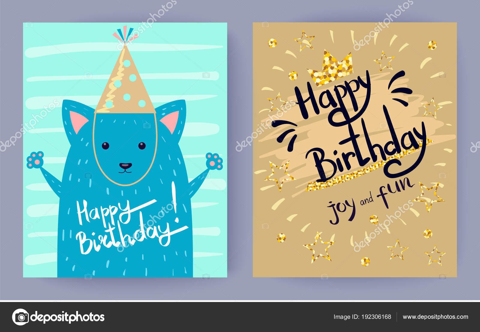 Joyeux Anniversaire Joie Et Amusement Vector Illustration Image