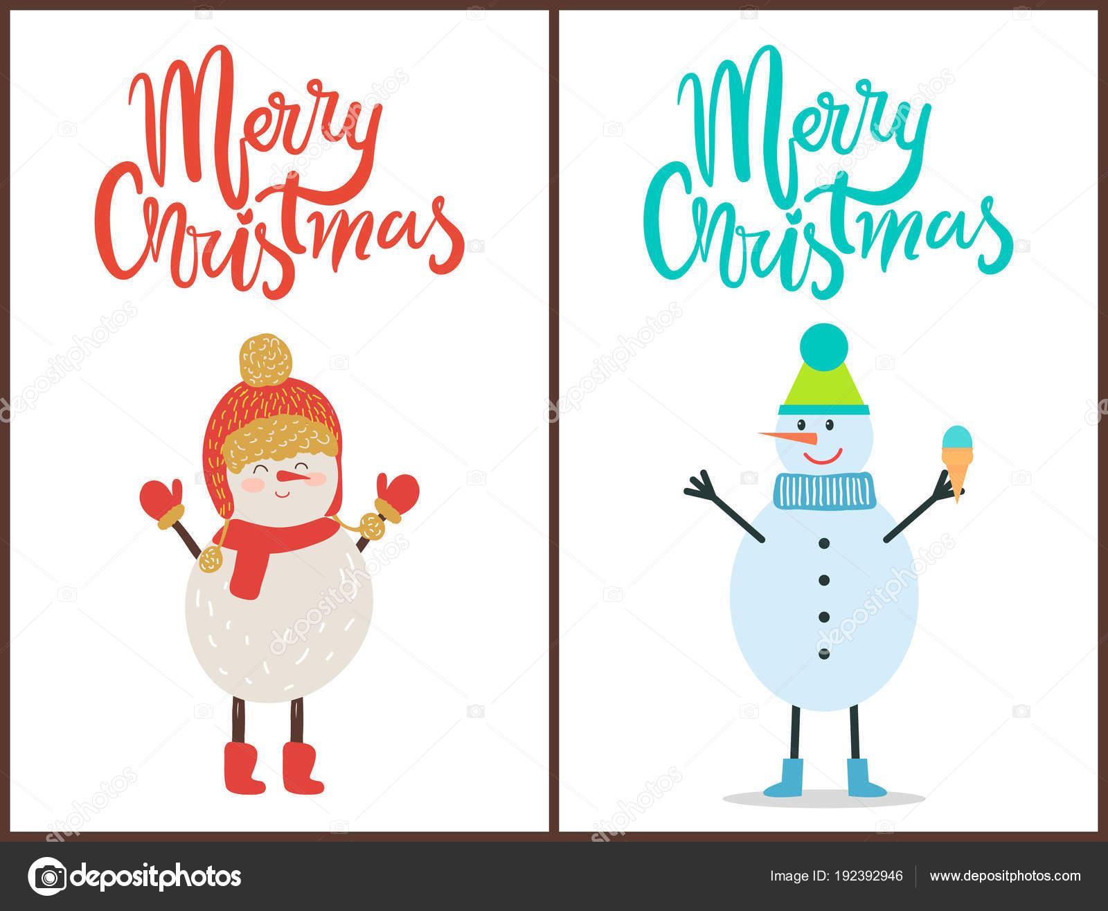 Glückwünsche Zu Weihnachten.Banner Die Glückwünsche Frohe Weihnachten Schneemann Stockvektor