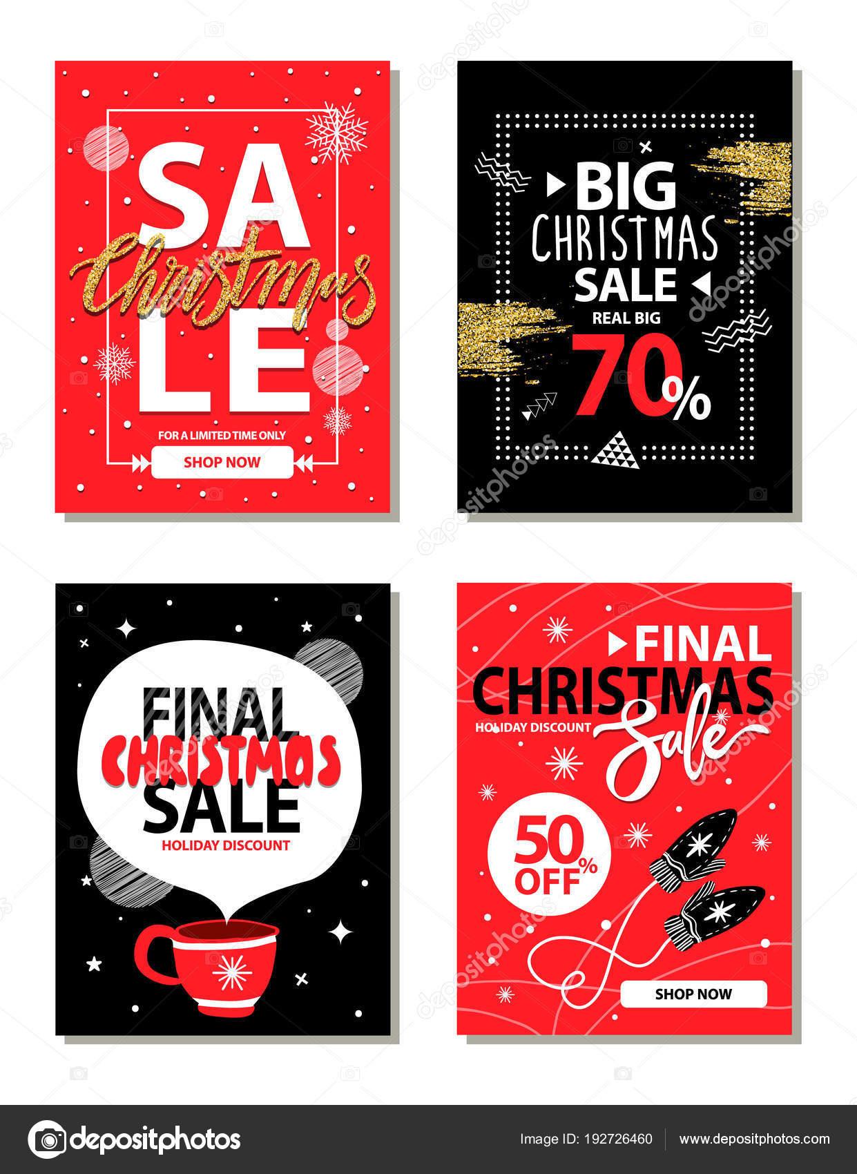 Ilustración de Vector de Navidad muy grande Sale — Vector de stock ...