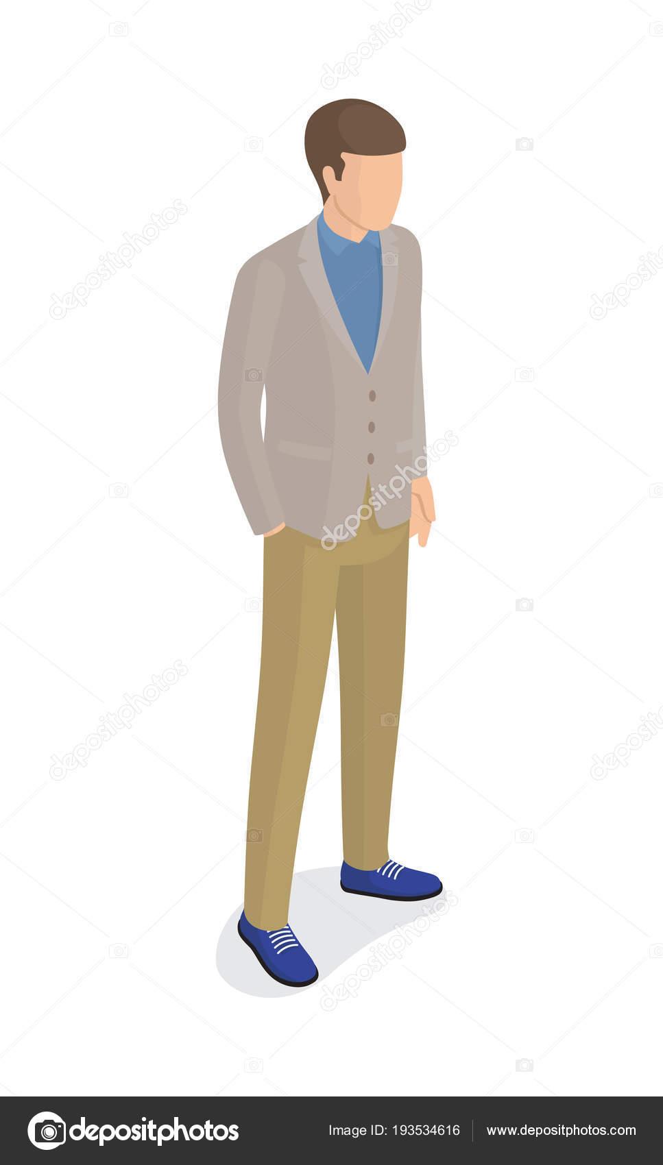 De Azules Chaqueta GrisPantalones Hombre — Vector VerdesZapatos OkXiTPZu