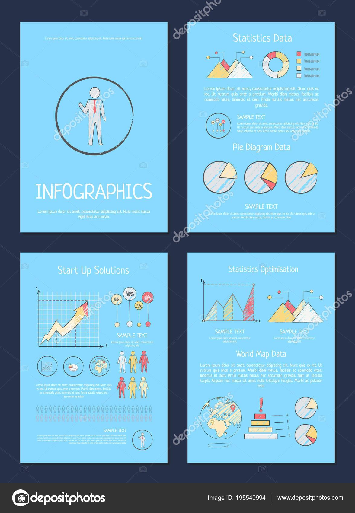 Estadísticas, Pie diagrama datos Vector ilustración — Archivo ...