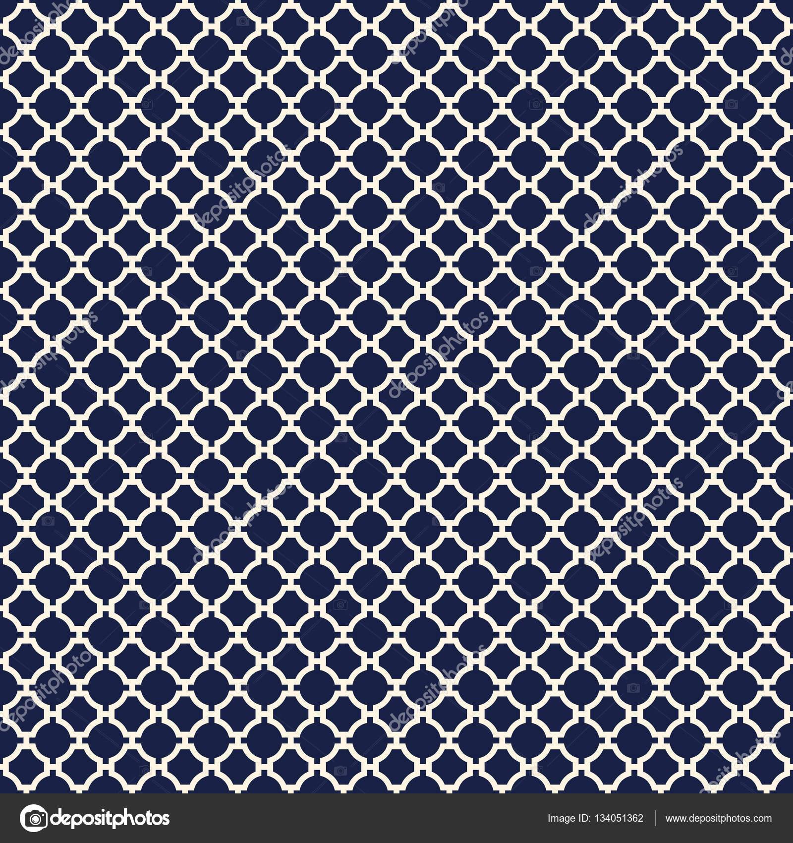 Seamless Vintage Geometric Quatrefoil Lattice Pattern — Stock Vector