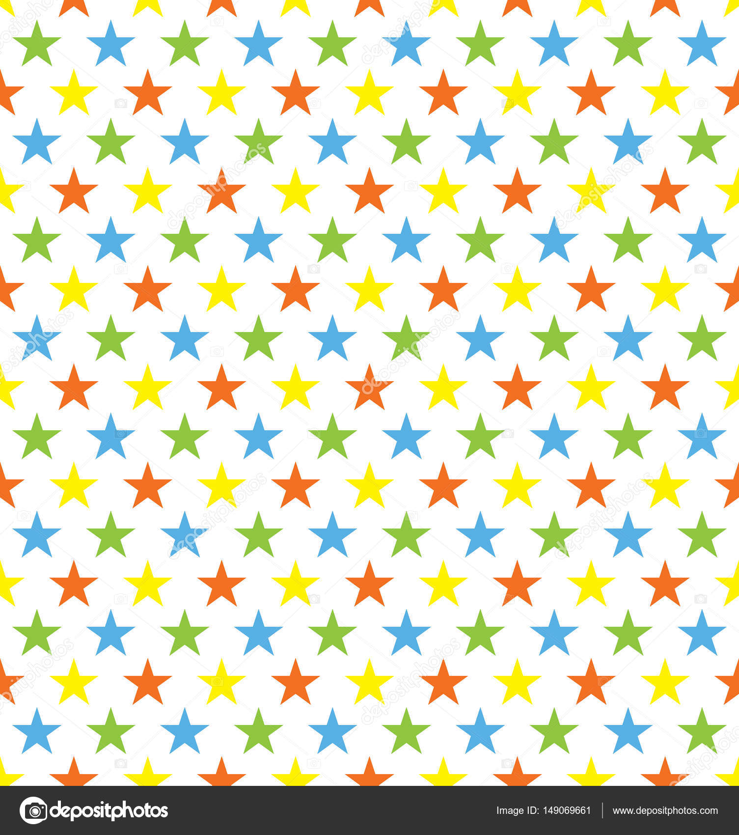 seamless colourful star pattern ideal for birthday gift wrapping paper stock vector