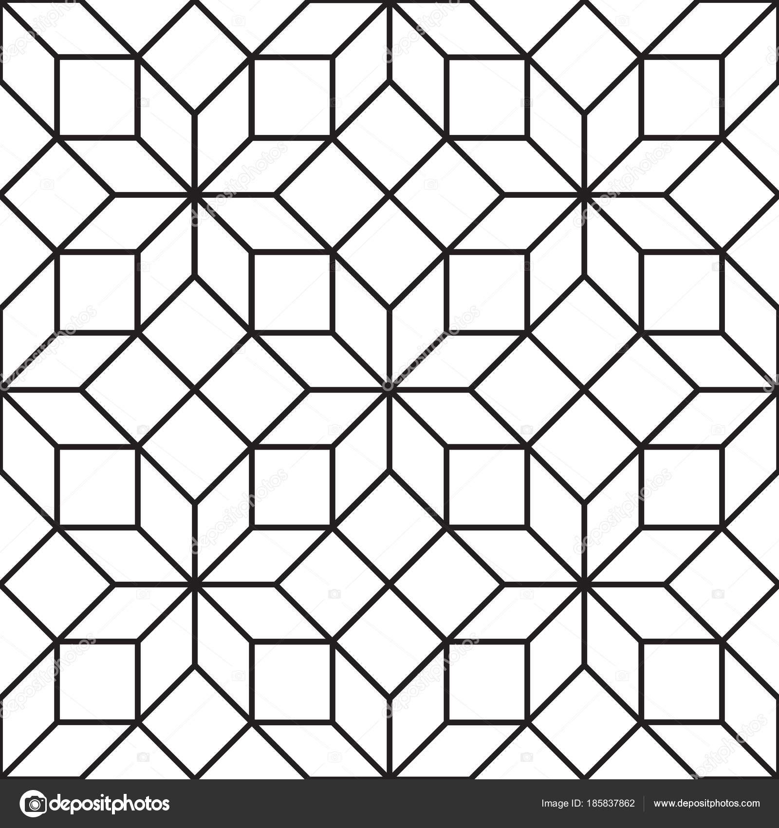 Deco Noir Et Blanc seamless art deco tracery trellis texture pattern background