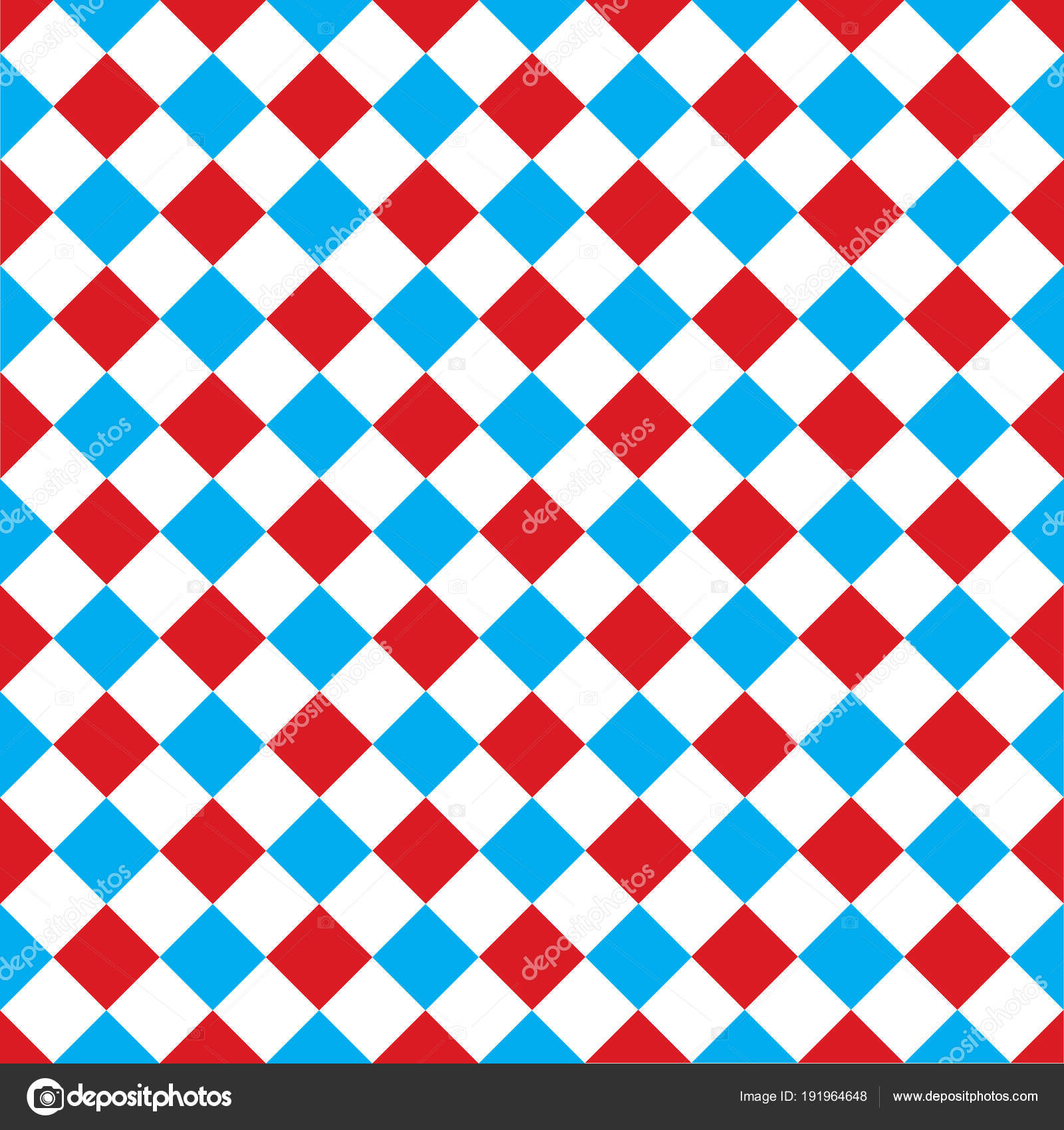 Seamless Argyle Harlequin Check Pattern Background Red White Blue Stock Vector
