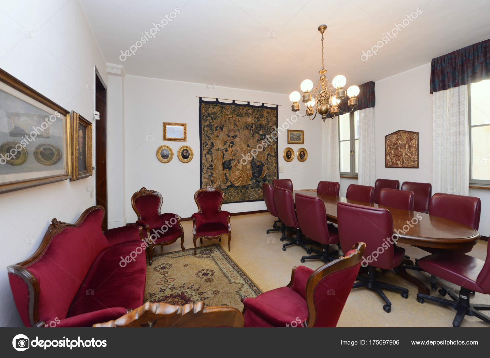 Room joint city varese lombardy italy stock photo