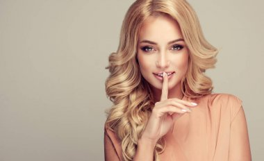 Beautiful girl blonde hair