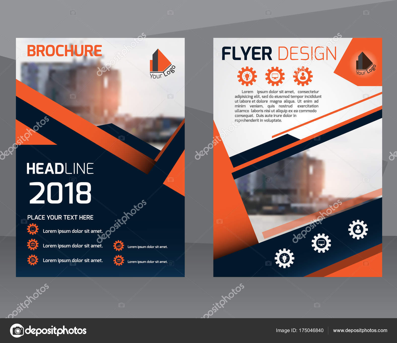 poster flyer pamphlet brochure cover design layout template with