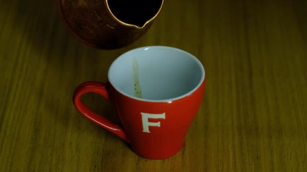 strong black coffee poured into a coffee cup