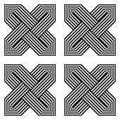 modello geometrico monocromatica senza giunte di progettazione