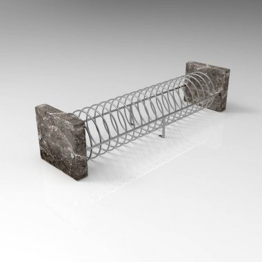 3d rendering of Bicycle Parking 19x view isometry 00006