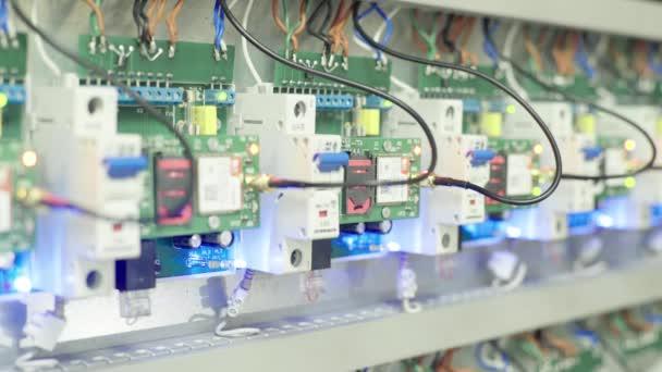 elektrische Schalter und Sicherungen. Nahaufnahme.