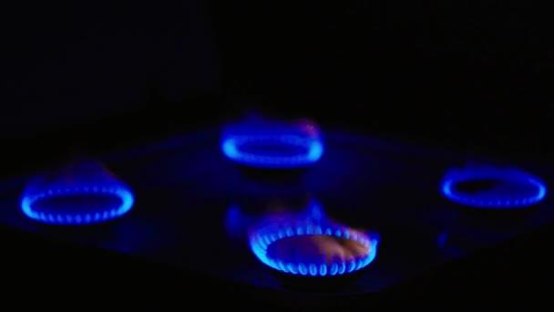 Feuer in Gasherd auf Gasherd