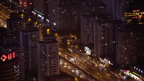 Pohled na město z výšky. Krajina. Peking. Čína. Asie