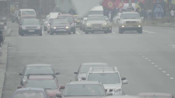 Road traffic. Cars drive on the road. Kyiv. Ukraine