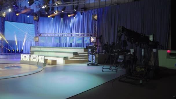 TV-műsorok felvétele egy TV-stúdióban
