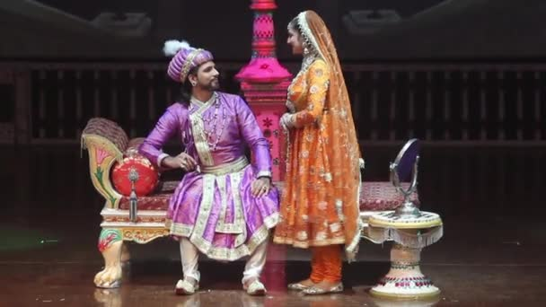 Performance in the Indian theater. Agra. Culture of India