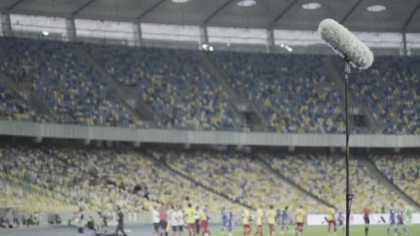 Professzionális stadion mikrofon felvétel hang. Közelkép