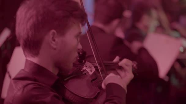 Male man violinist playing violin. Kyiv. Ukraine