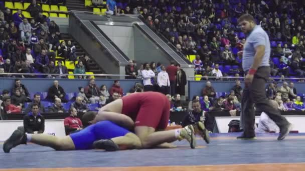 Wrestlers during the wrestling competition. Kyiv. Ukraine