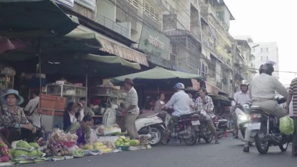 Trh v Phnom Penh. Kambodža. Asie.