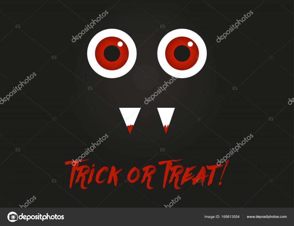 Illustration Der Monster Mit Roten Augen Und Blut Auf Seine Zähne