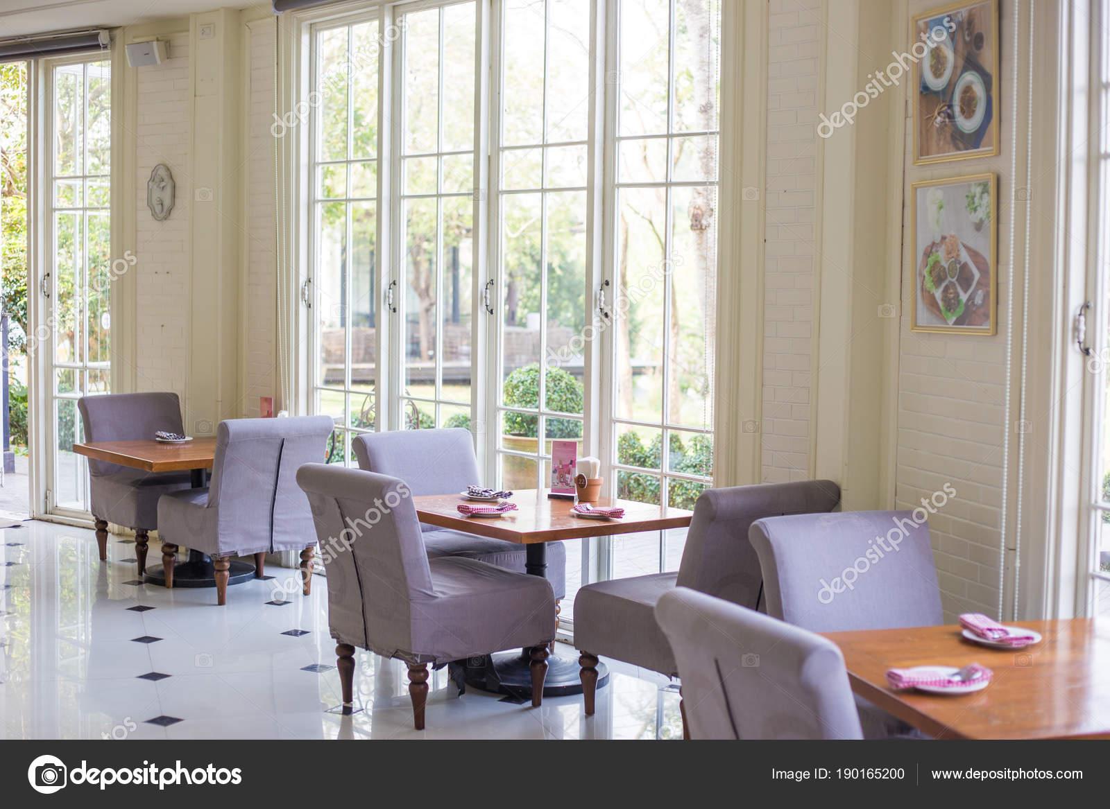 Interior Of Vintage Restaurant Decoration Luxury Cafe Stock Photo