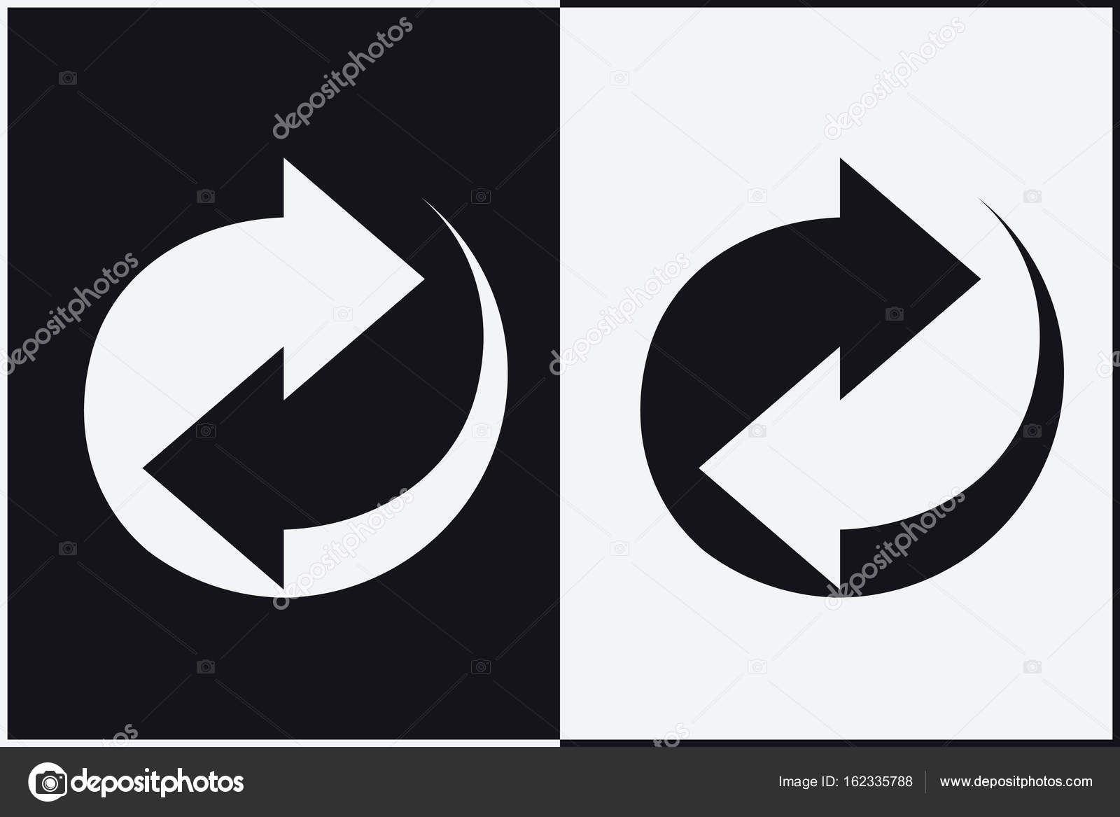 Recycle Symbol Sign Of Recycled Material Stock Vector Simeonvd