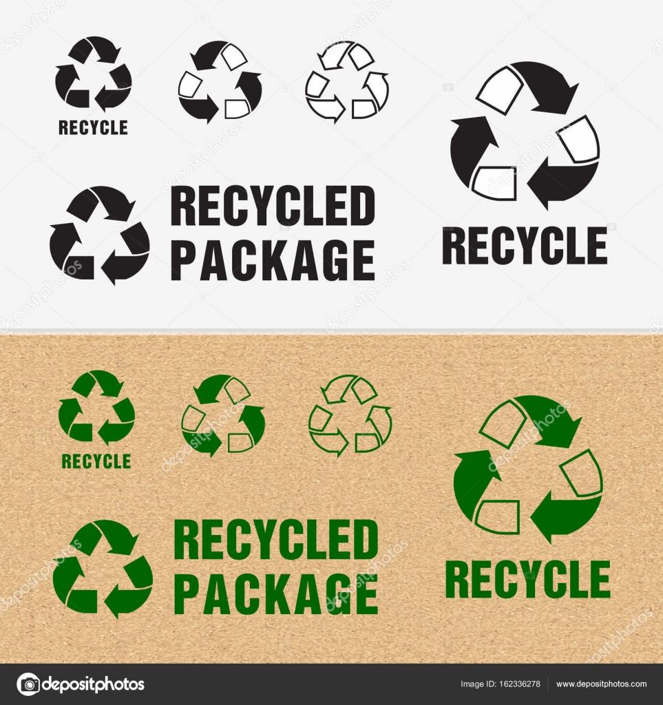 Simbolo De Reciclado E Embalagens Cadastre Se Para A Carga Vetor