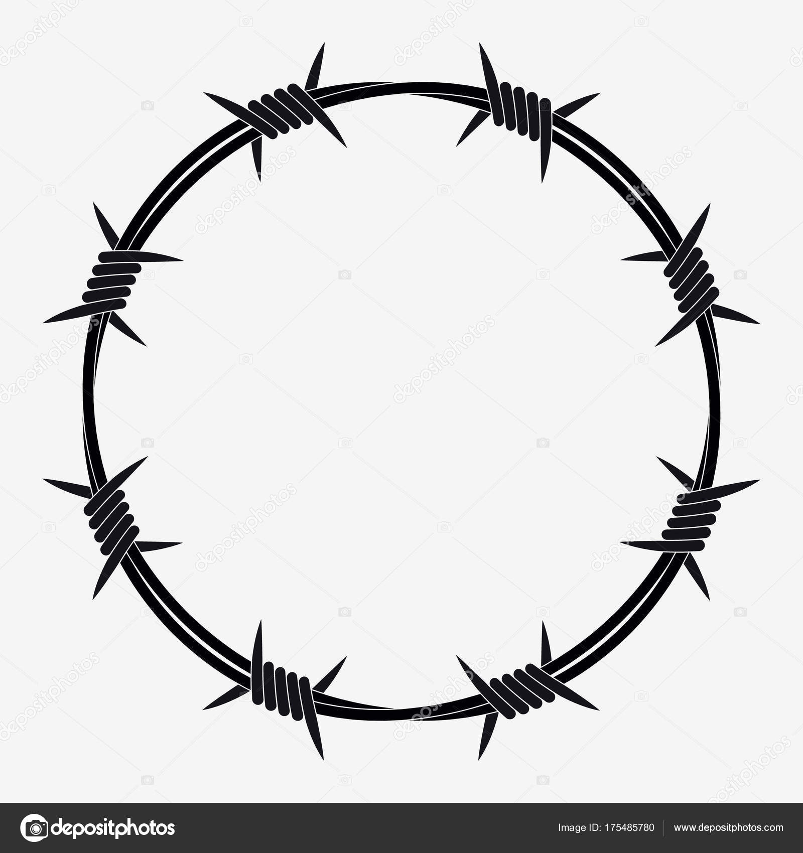 Barbed Wire Circle Clip Art on ring circuit