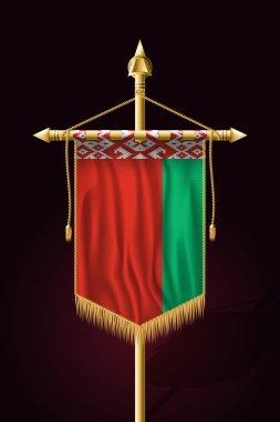 Flag of Belarus. Festive Vertical Banner. Wall Hangings