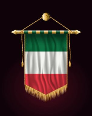 Flag of Italy. Festive Vertical Banner. Wall Hangings