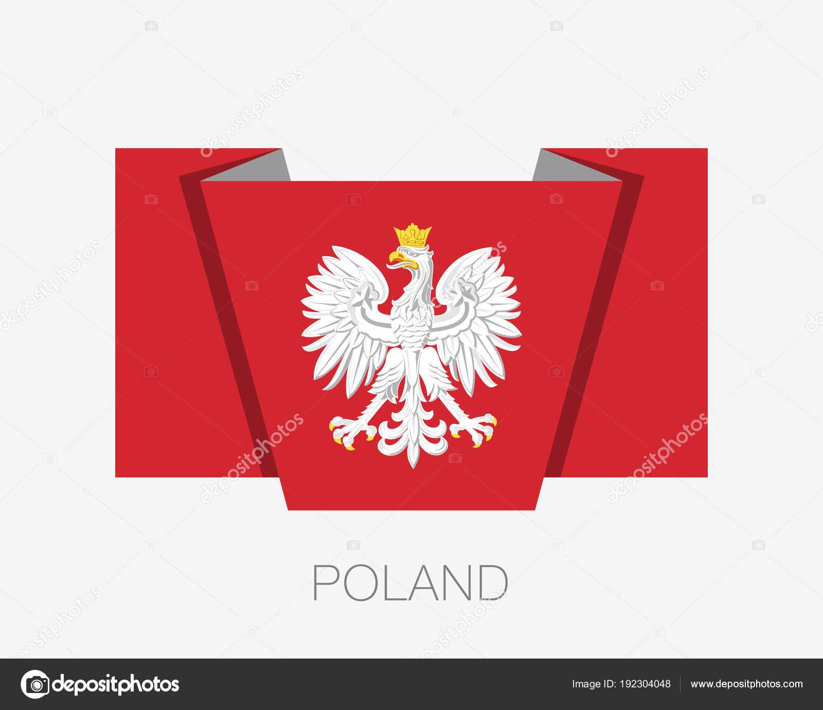 冠鷲。ポーランドの国章。フラッ...