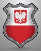 Fotografie Flag of Poland with Eagle. Vector Badge and Icon