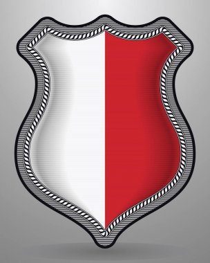 Flag of Poland. Vector Badge and Icon
