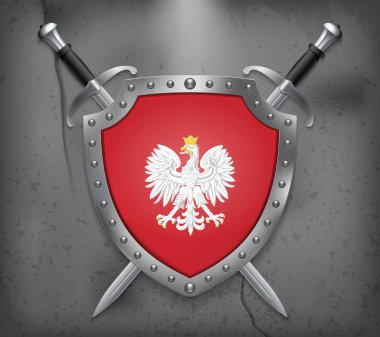 Eagle with a Crown. The National Emblem of Poland. The Shield wi