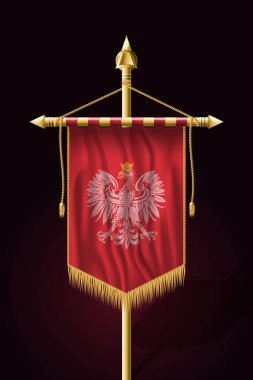 Eagle with a Crown. The National Emblem of Poland. Festive Verti