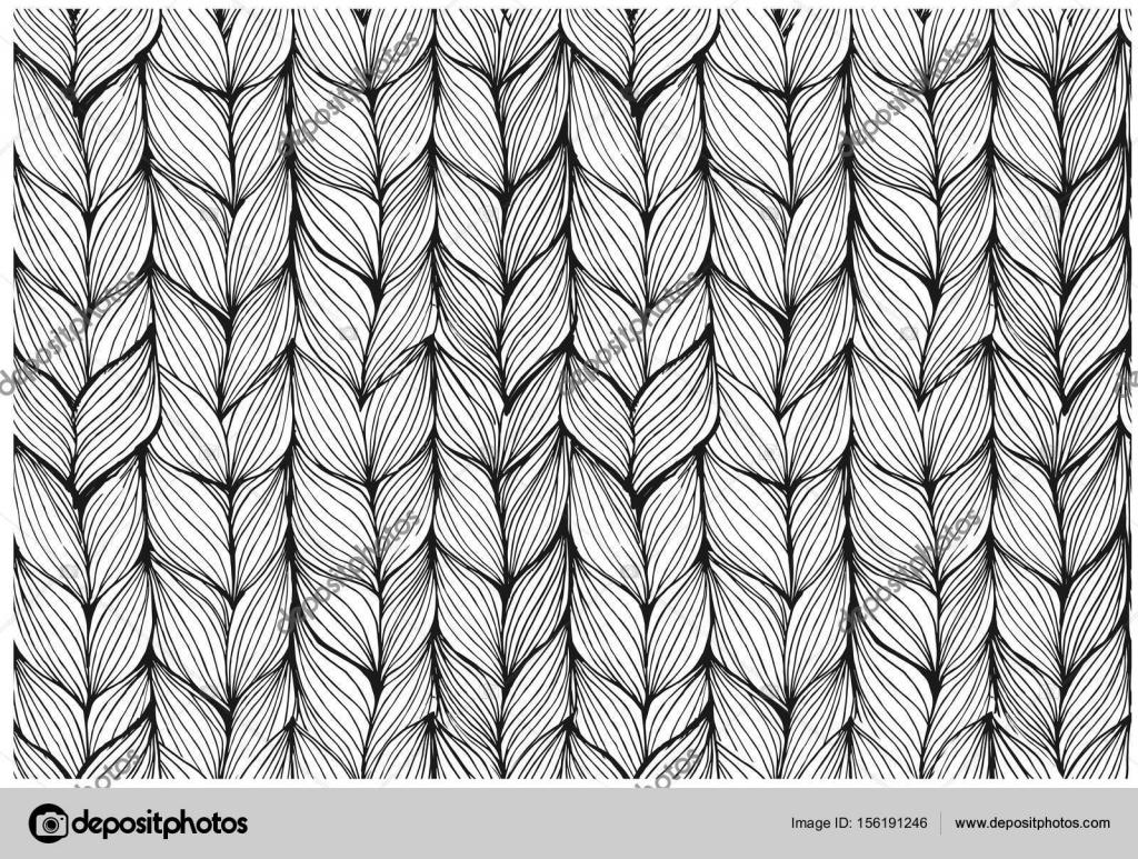Tejer trenzas de patrones sin fisuras — Vector de stock © medvedka ...