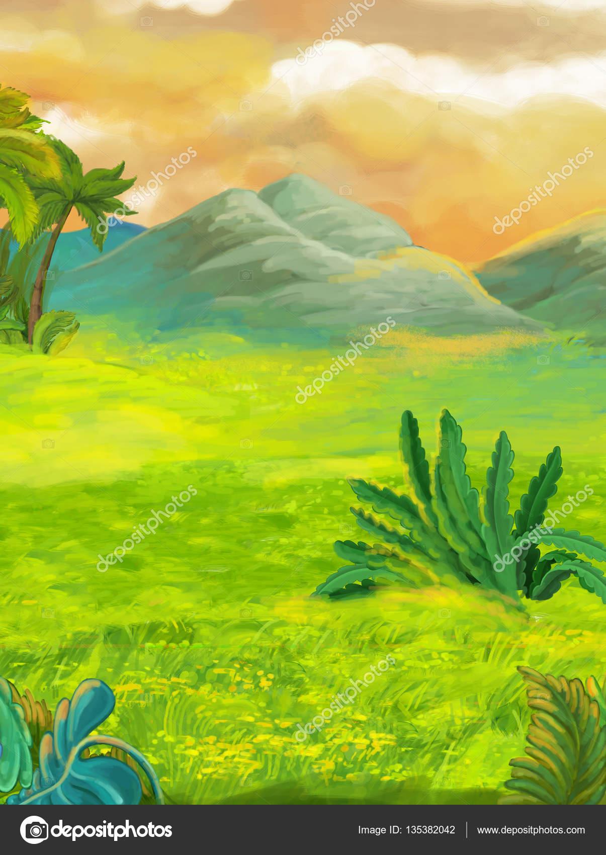 Escena de dibujos animados naturaleza — Foto de stock © agaes8080 ...