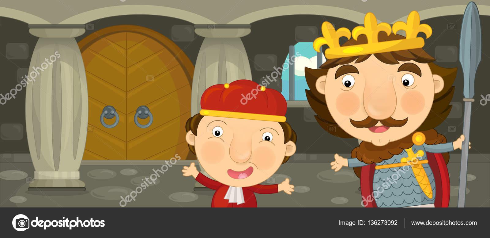 Dibujos Animados Feliz Y Divertido Caballero O Rey