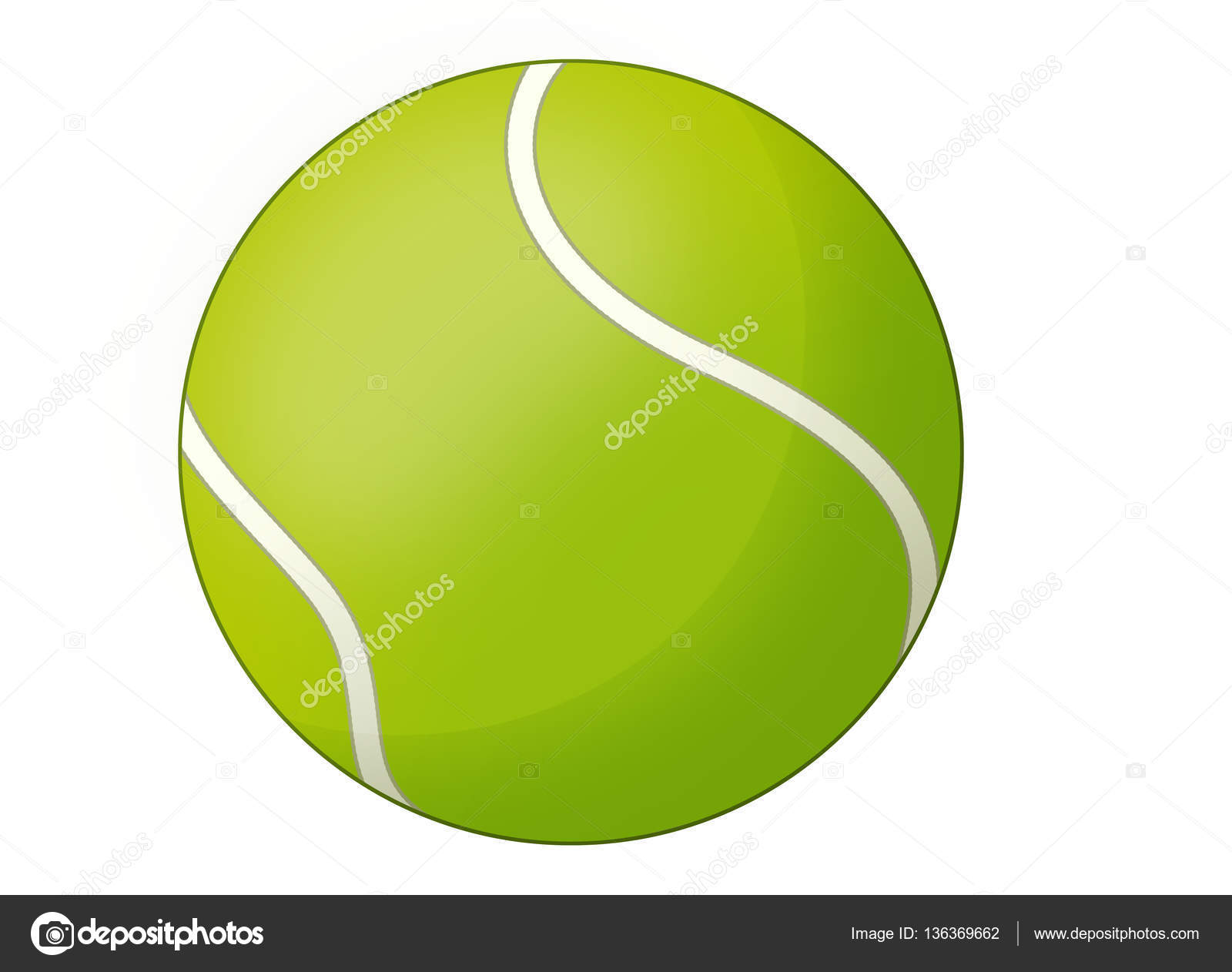 Tenis pelota stock de ilustracion ilustracion libre de stock de - Dibujos Animados La Pelota De Tenis Aislada Ilustraci N Para Los Ni Os Fotos De