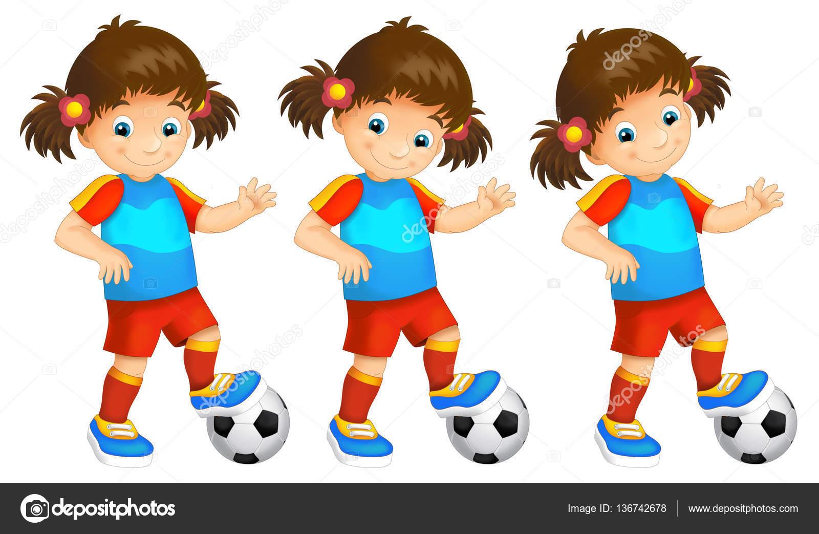 Dibujos Mujeres Jugando Futbol Ninos De Dibujos Animados Chicas
