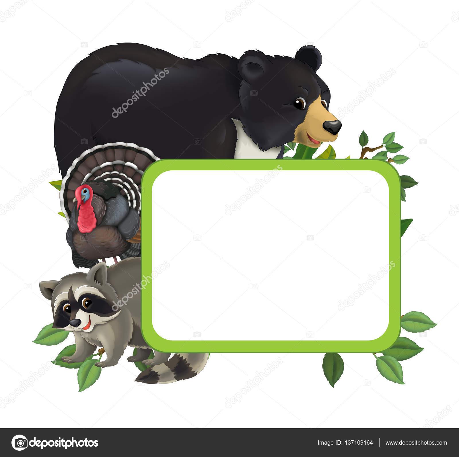 Cartoon-Rahmen mit verschiedenen Tieren — Stockfoto © agaes8080 ...