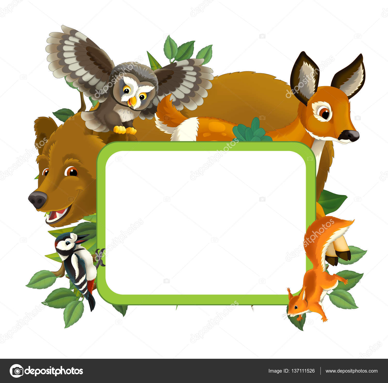Cartoon frame with animals — Stock Photo © agaes8080 #137111526