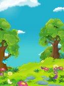 Fotografia cartone animato paesaggio natura